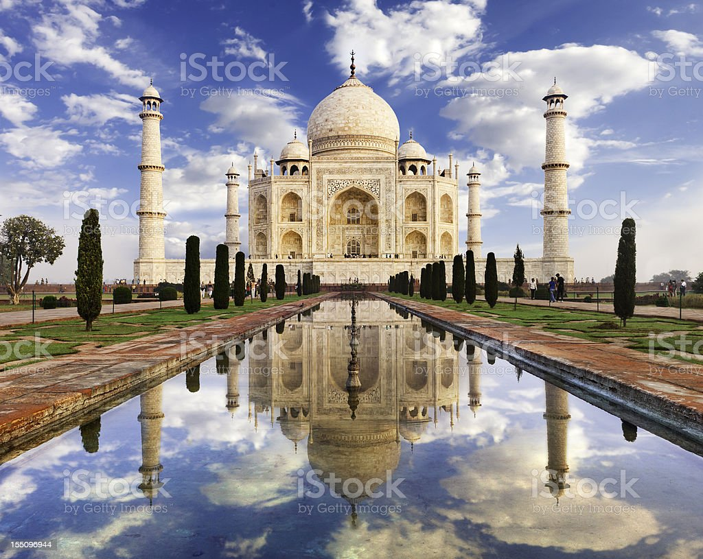 Taj Mahal Sunrise stock photo