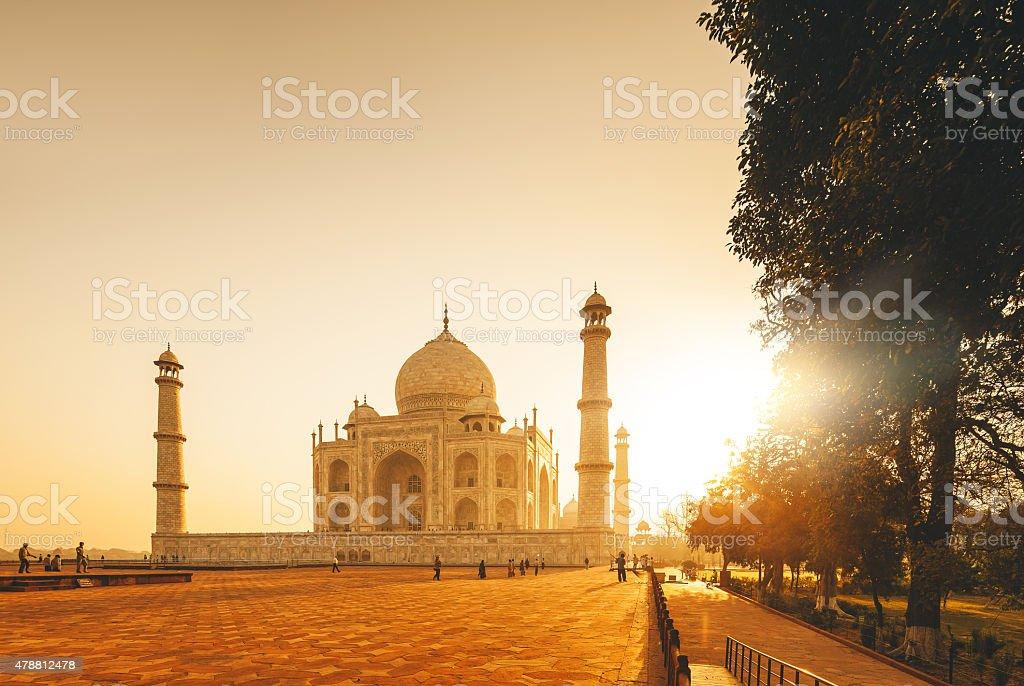 Taj Mahal Sunset, India stock photo