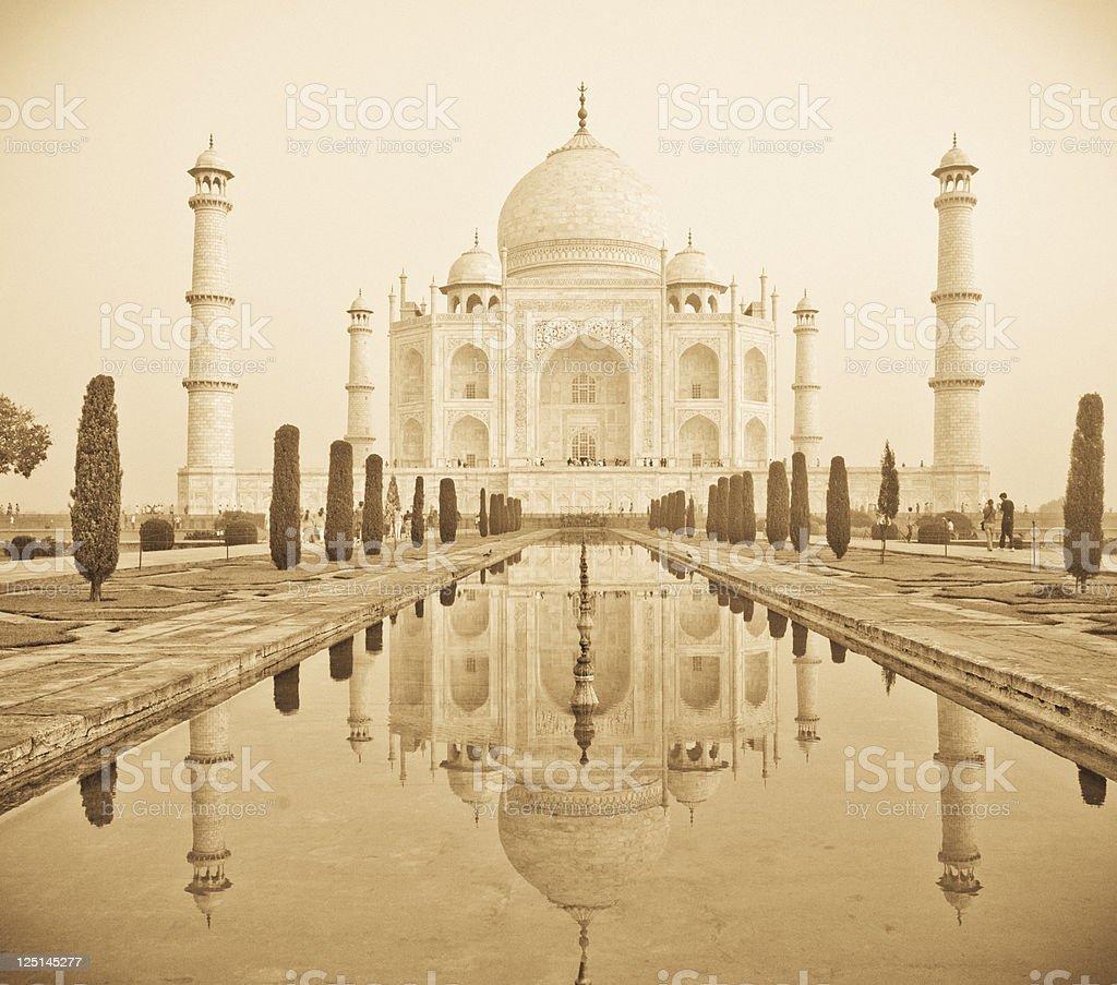 Taj Mahal Vintage stock photo