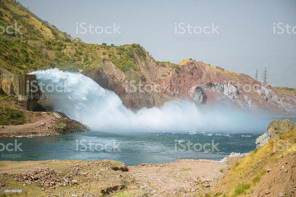 Tajikistan Hydro Plant stock photo
