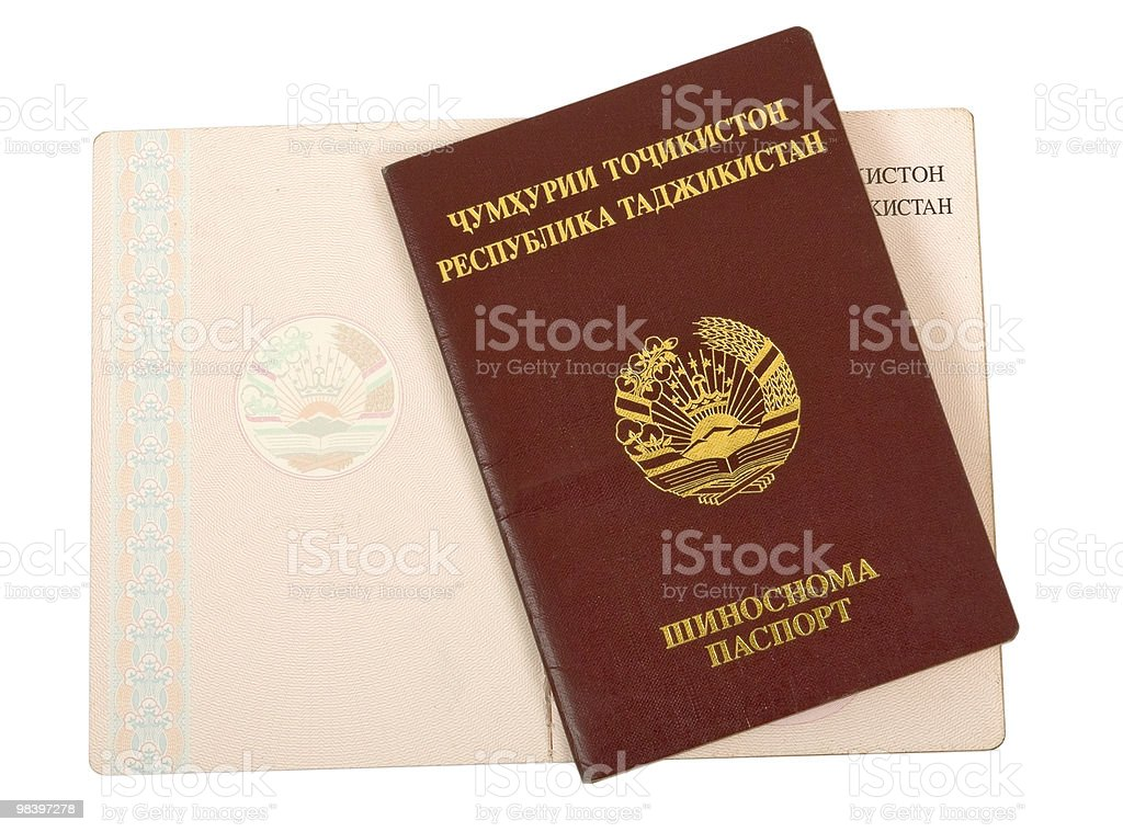 Tajikistan passport royalty-free stock photo