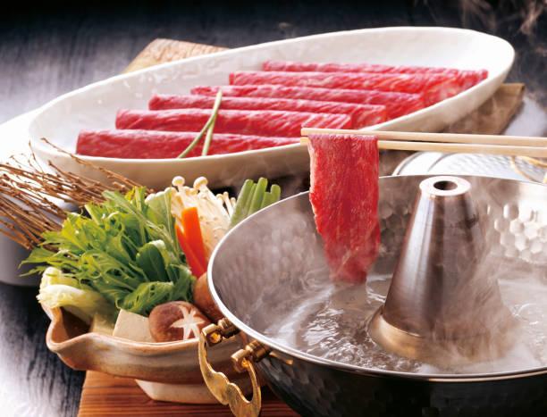 Tajima beef Shabu-Shabu stock photo