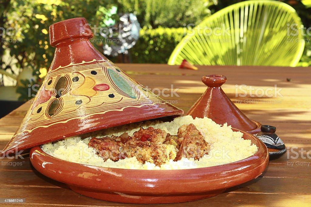 tajine, tagine, couscous,Morroco, spices stock photo