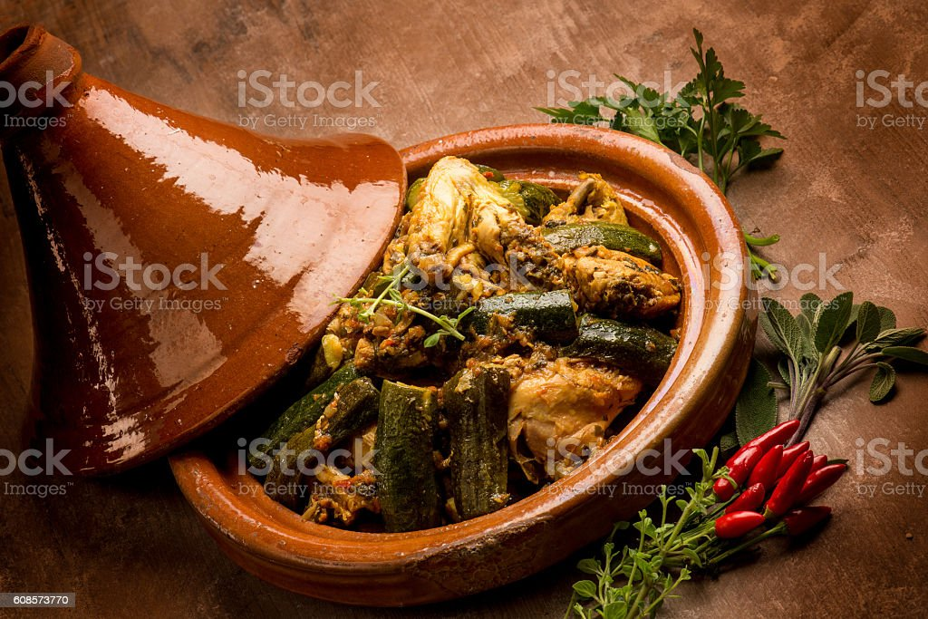 tajine with meat vegetables and spice - Photo