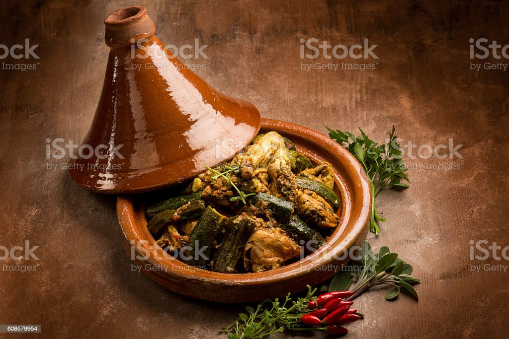 tajine with meat vegetables and spice – Foto