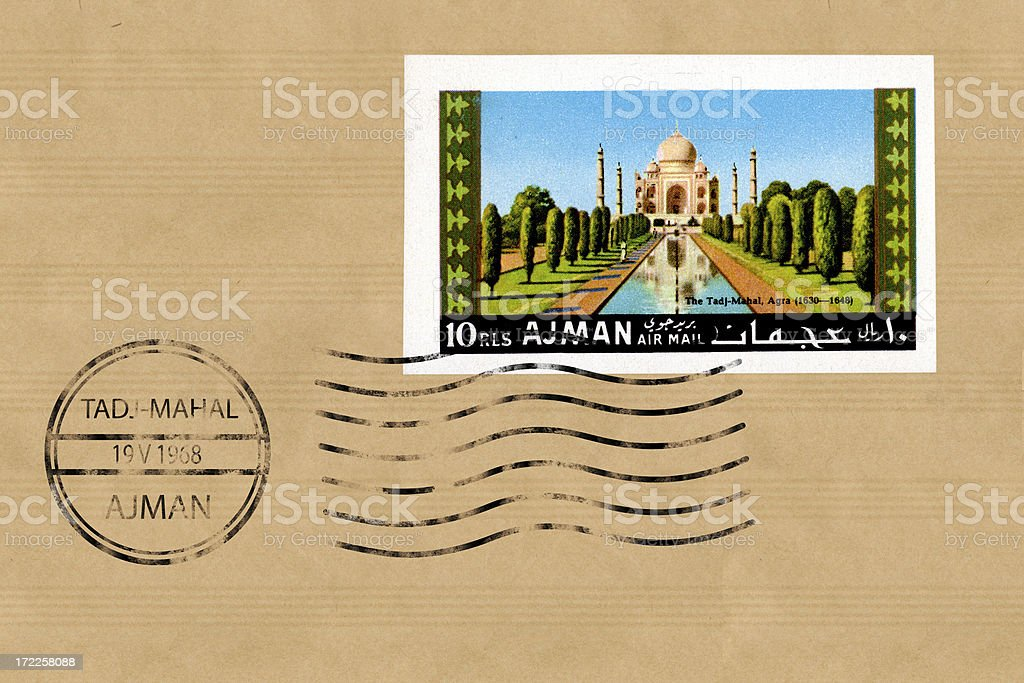 Taj-Mahal stamp royalty-free stock photo
