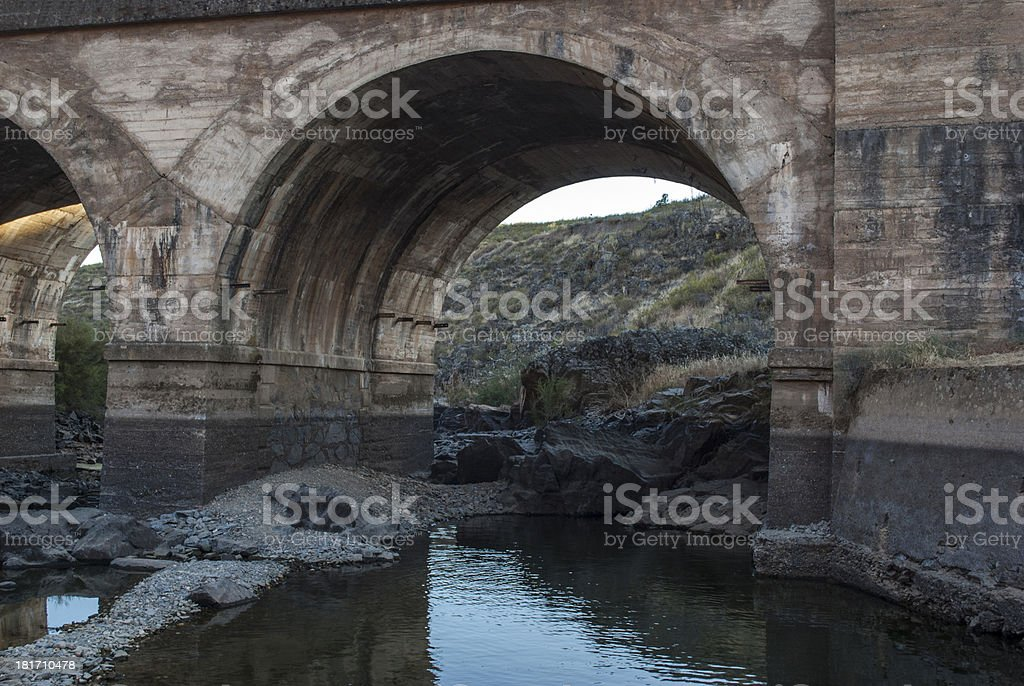 Tajo River in Toledo, Spain royalty-free stock photo