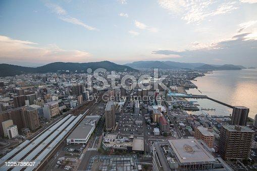 istock Takamatsu Cityscape in Kagawa Prefecture, Shikoku, Japan 1225738607
