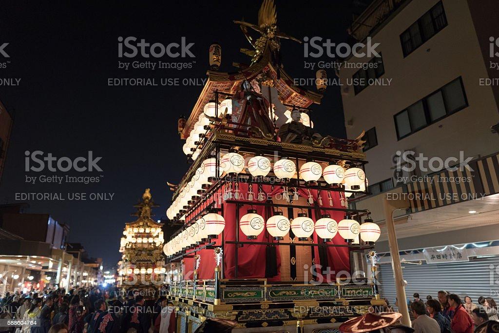 Takayama Festival at Night stock photo