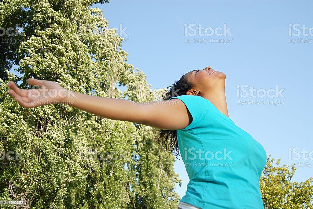 Take a big breath stock photo