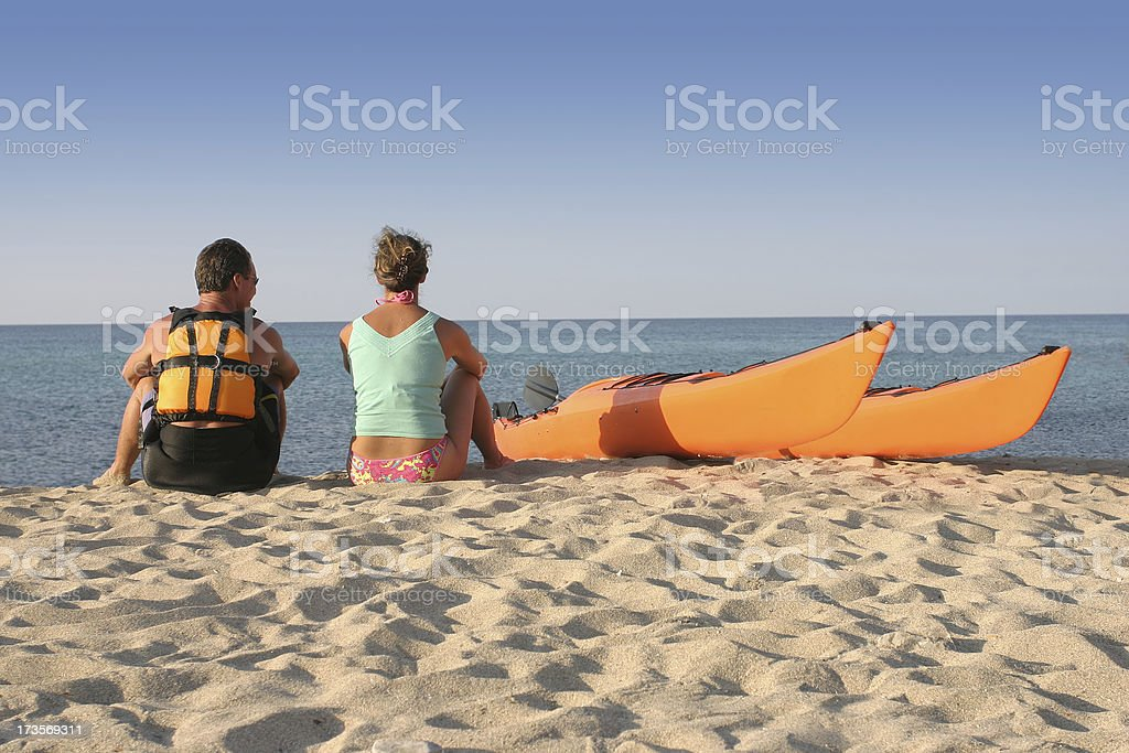 Take a break from paddling royalty-free stock photo