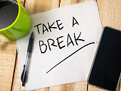 istock Take a Break, Motivational Words Quotes Concept 1061077744