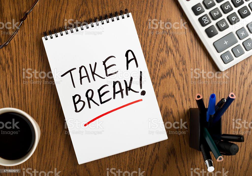 take a break! royalty-free stock photo
