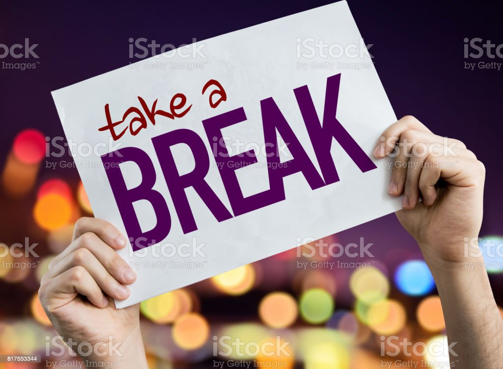 Take a Break stock photo