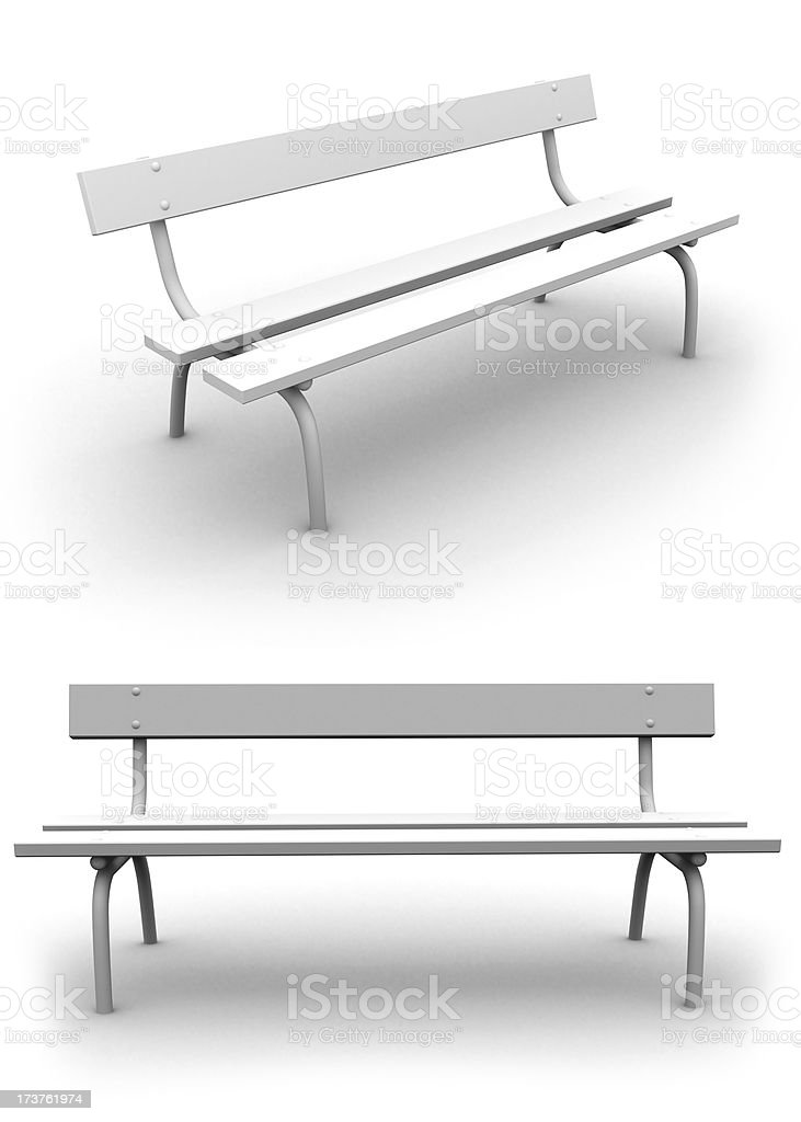 Take a rest - Park Bench royalty-free stock photo