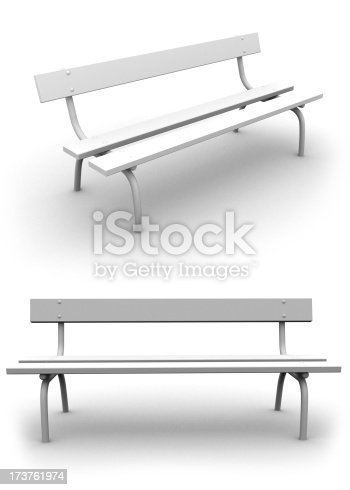 High resolution rendering of white pew on white background