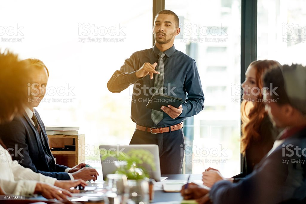 Take a small idea and unfold it into something big stock photo