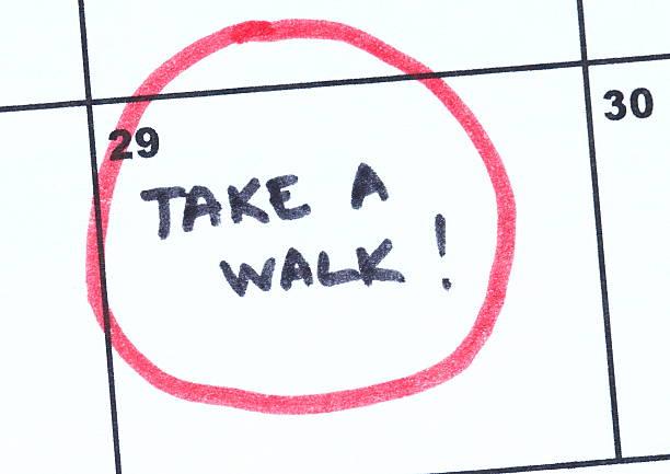take a walk - calendar workout bildbanksfoton och bilder