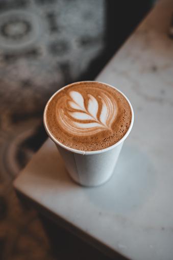 Take away coffee from a stylish coffee shop/cafe in Waikiki, Hawaii.