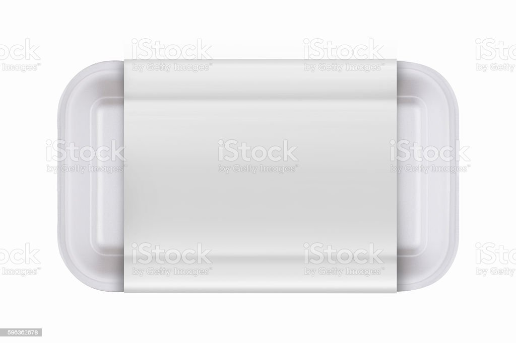 take away fast food packaging on white background royalty-free stock photo