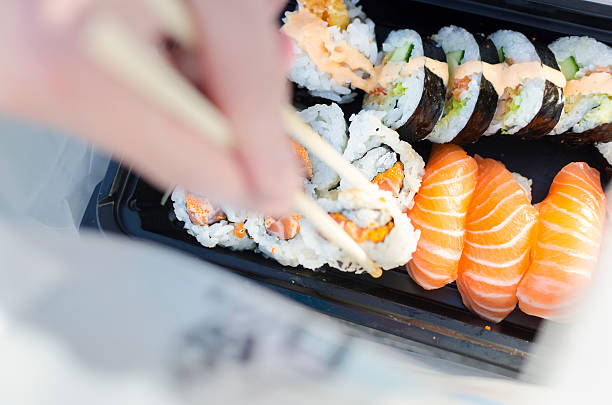 Take Away Sushi Bag stock photo