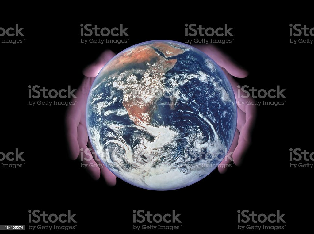 Take care of the Mother Earth! royalty-free stock photo