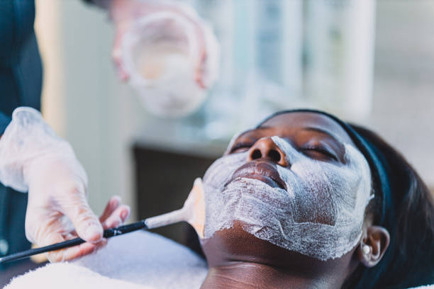 take care of your beauty - chemical peel stock pictures, royalty-free photos & images