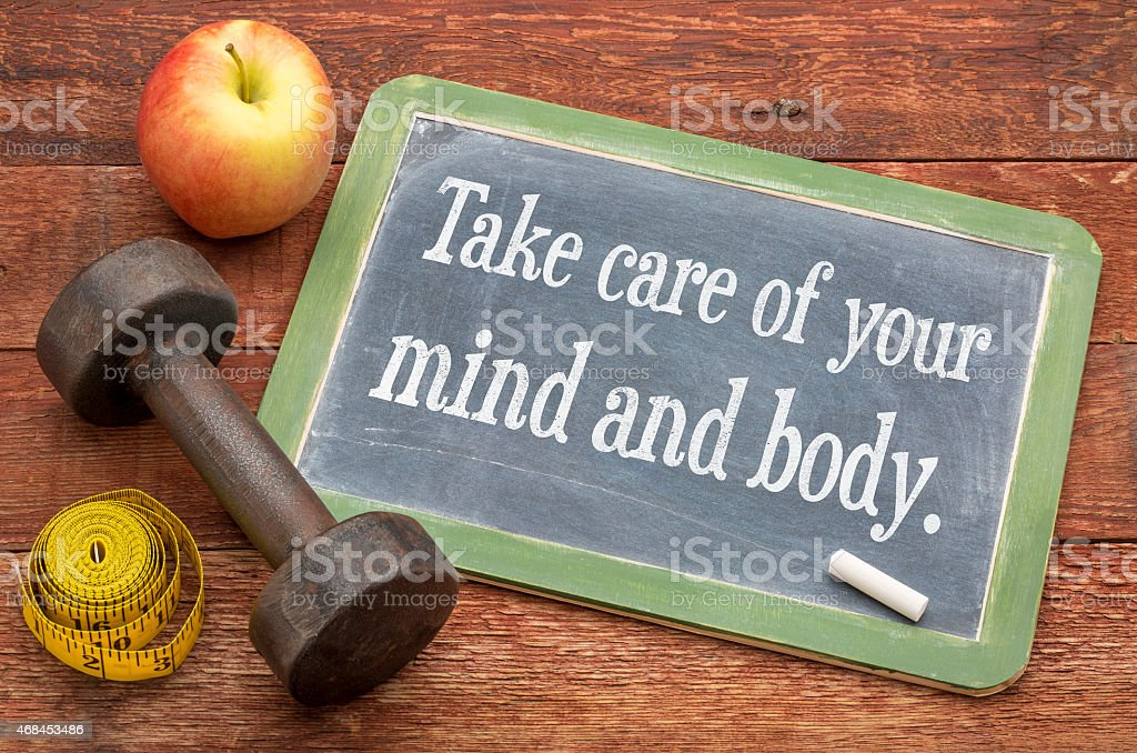 Take care of your mind and body stock photo