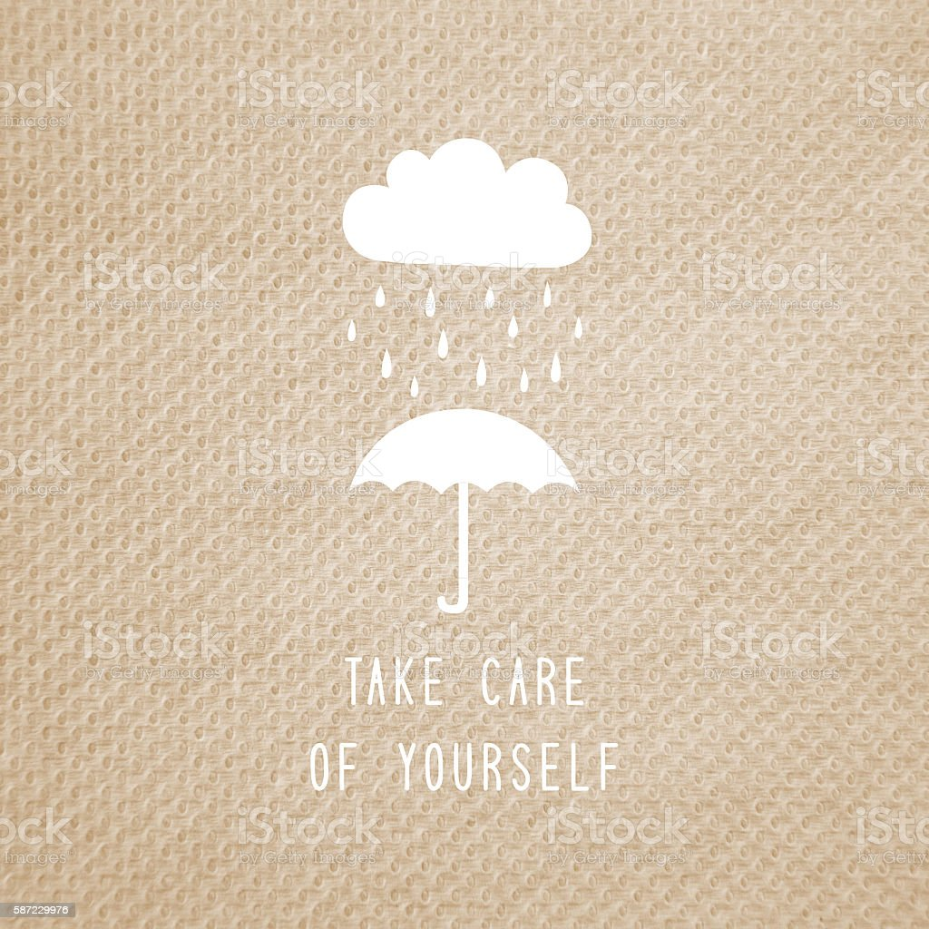 Take care of yourself text stock photo