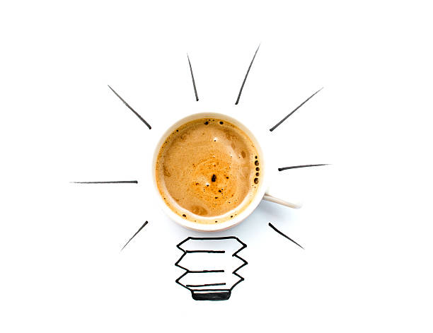 take coffee and get a better idea stock photo