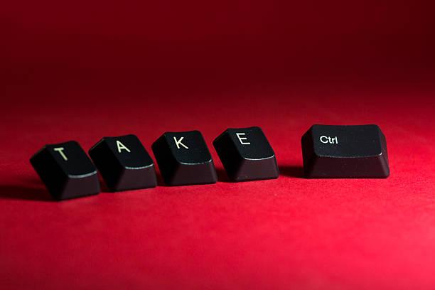 Tome el Control de compuesto de teclado y teclas - foto de stock