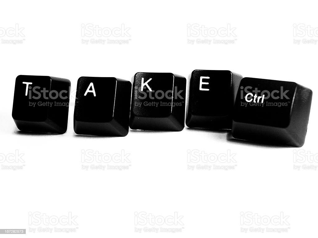 Take Control stock photo