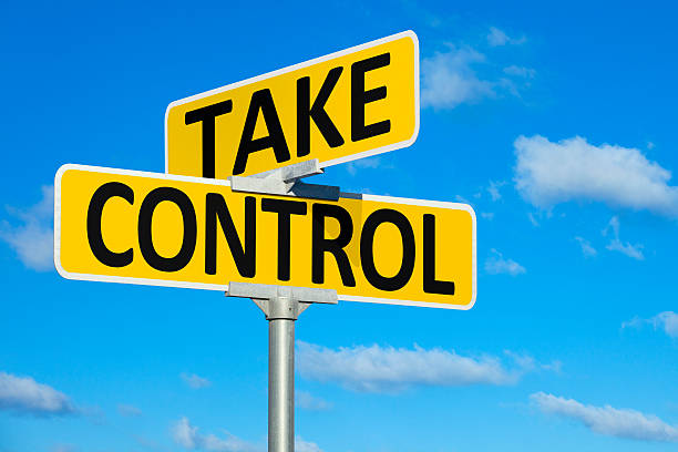 Take Control Street Intersection Sign stock photo