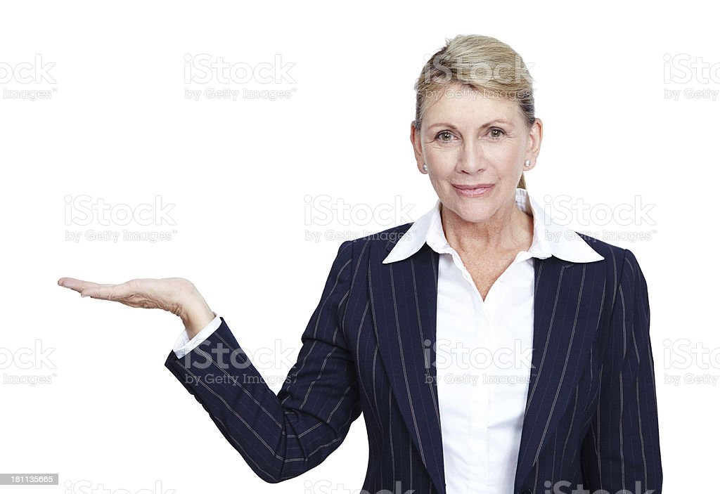 Take her advice royalty-free stock photo