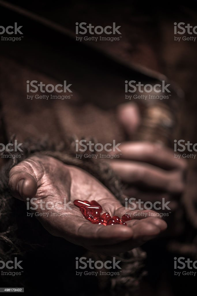 Take it and you will be dead stock photo