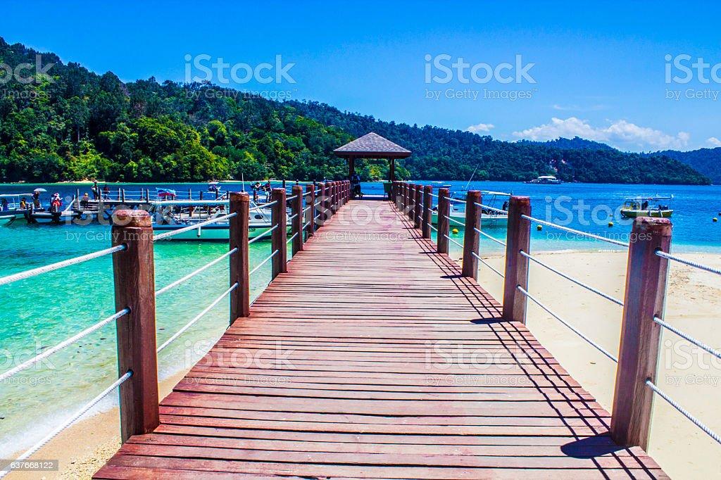 Take me to Sipi Island, Kota Kinabalu stock photo