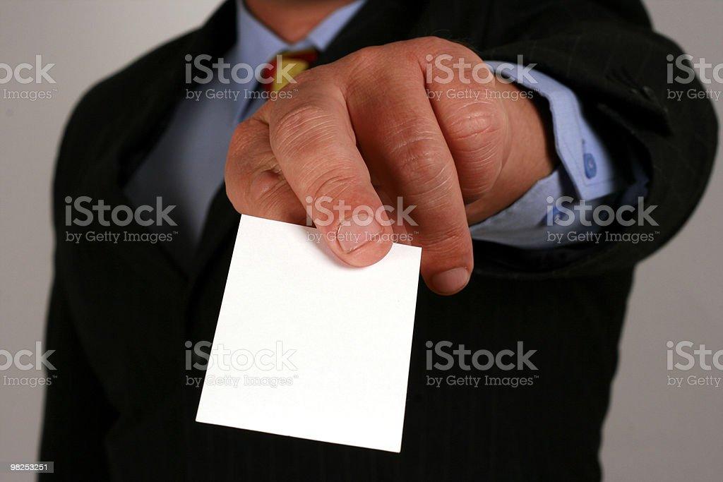 Take my card royalty-free stock photo
