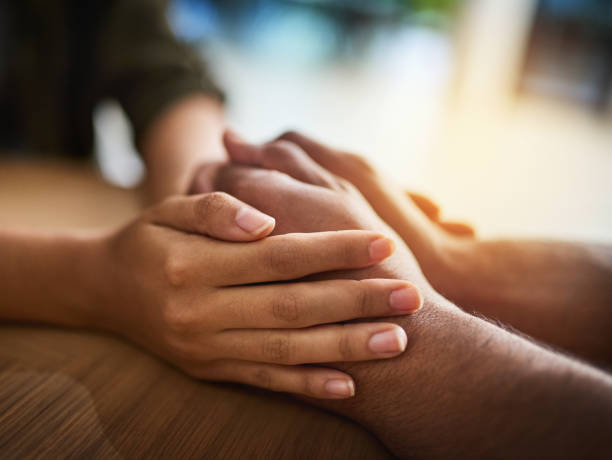 Take my hand and I'll take care of you - foto stock