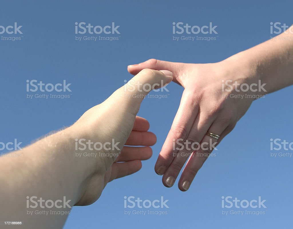 take my hand royalty-free stock photo