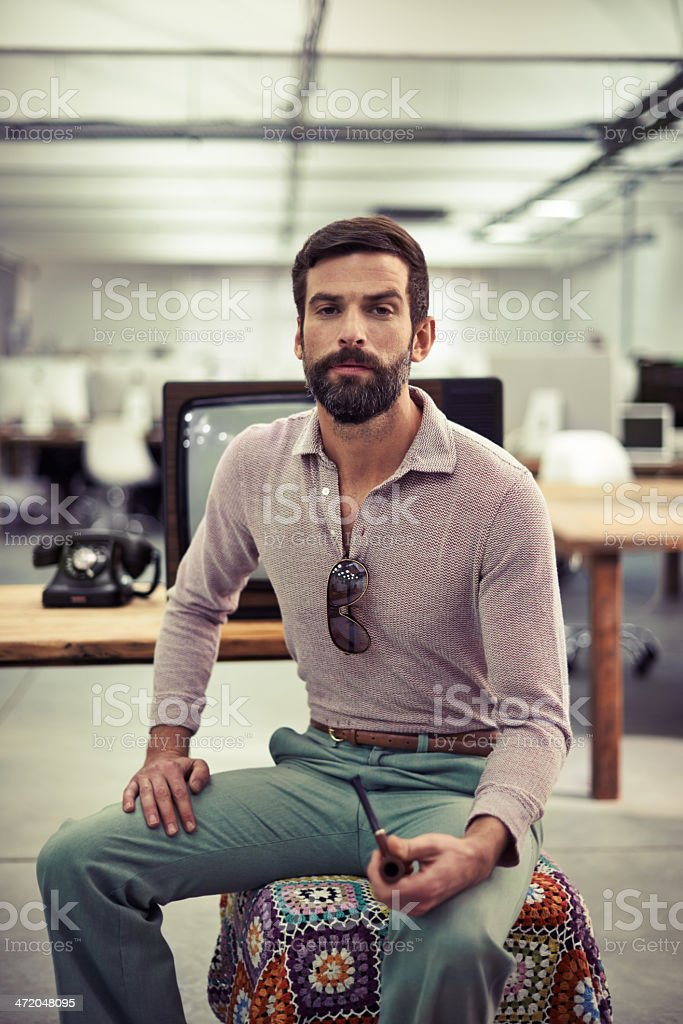 I take my work seriously! stock photo