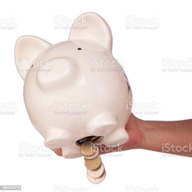 Foto de Tira O Dinheiro Do Banco Piggy e mais fotos de stock de Branco