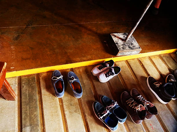 Take off Your Shoes Shoes off at the entrance to buddhist temple, meditate, relax, serenity undressing stock pictures, royalty-free photos & images