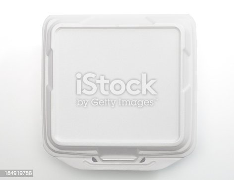 Food container for take home meals (with clipping path)
