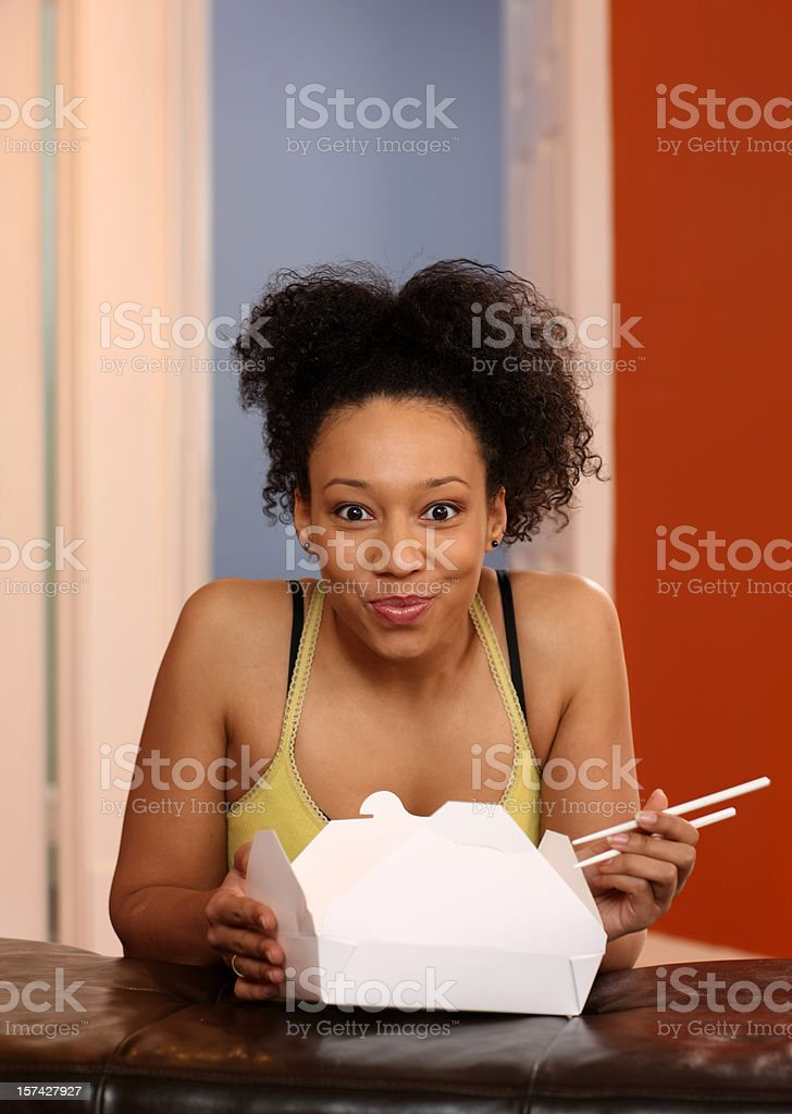 Take out lunch time royalty-free stock photo