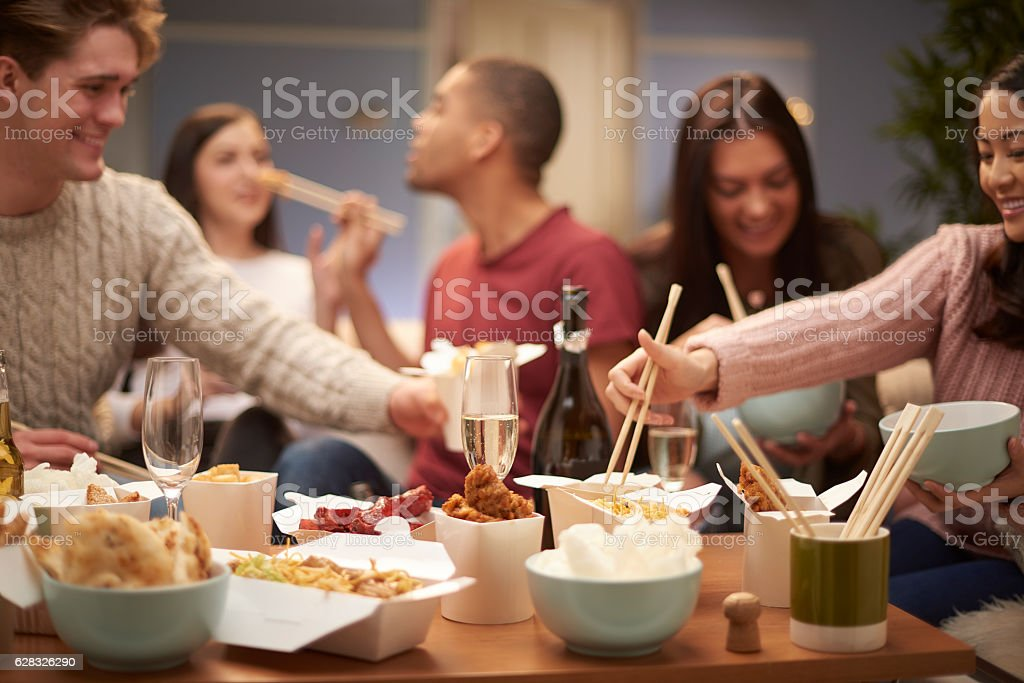 take out meal stock photo
