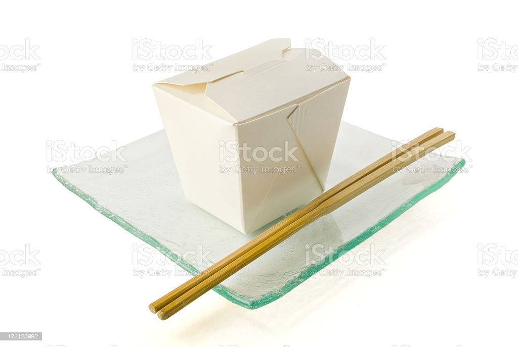 Take Out on Glass Plate royalty-free stock photo