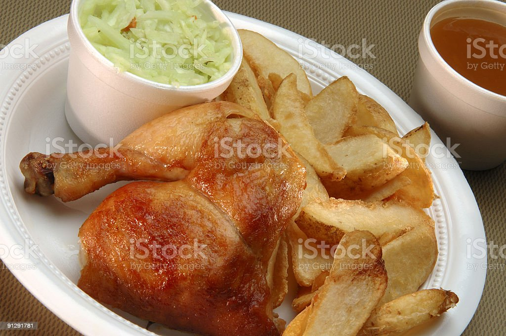 Take out roast chicken royalty-free stock photo