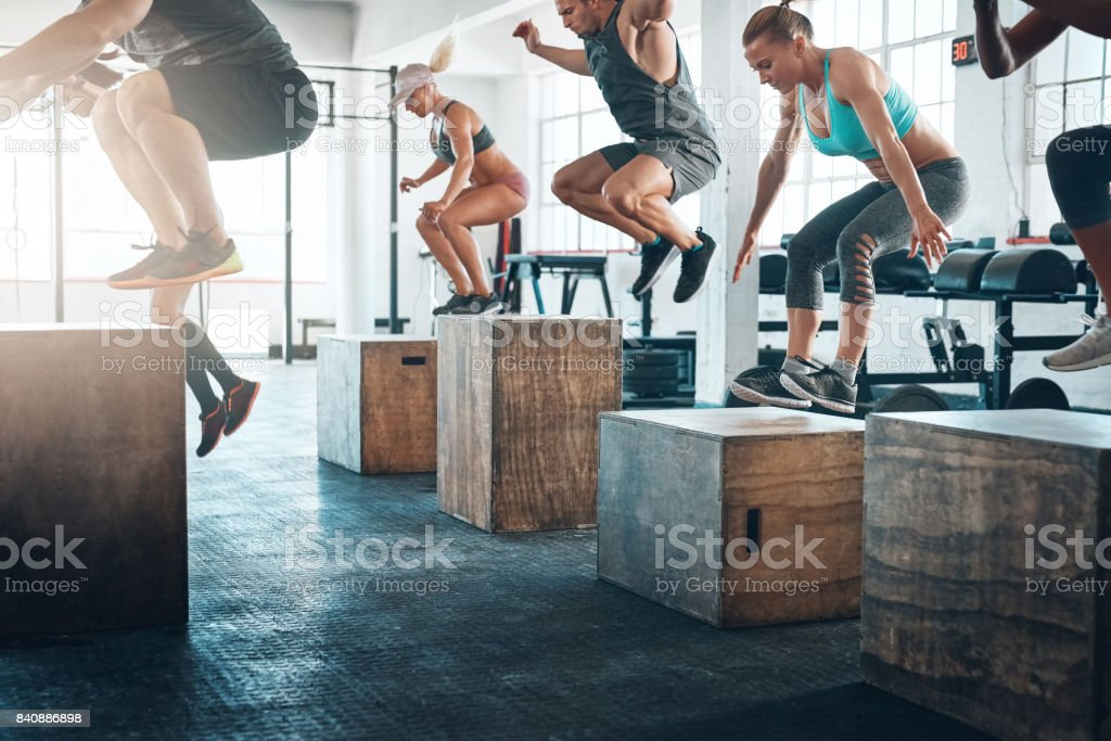 Take that leap stock photo