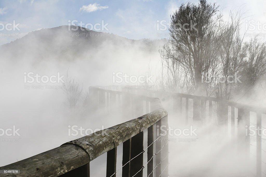 Take the bridge to the unknown royalty-free stock photo