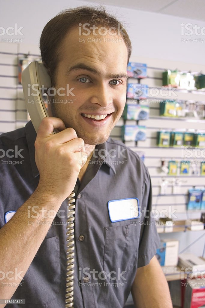 Take the Call stock photo